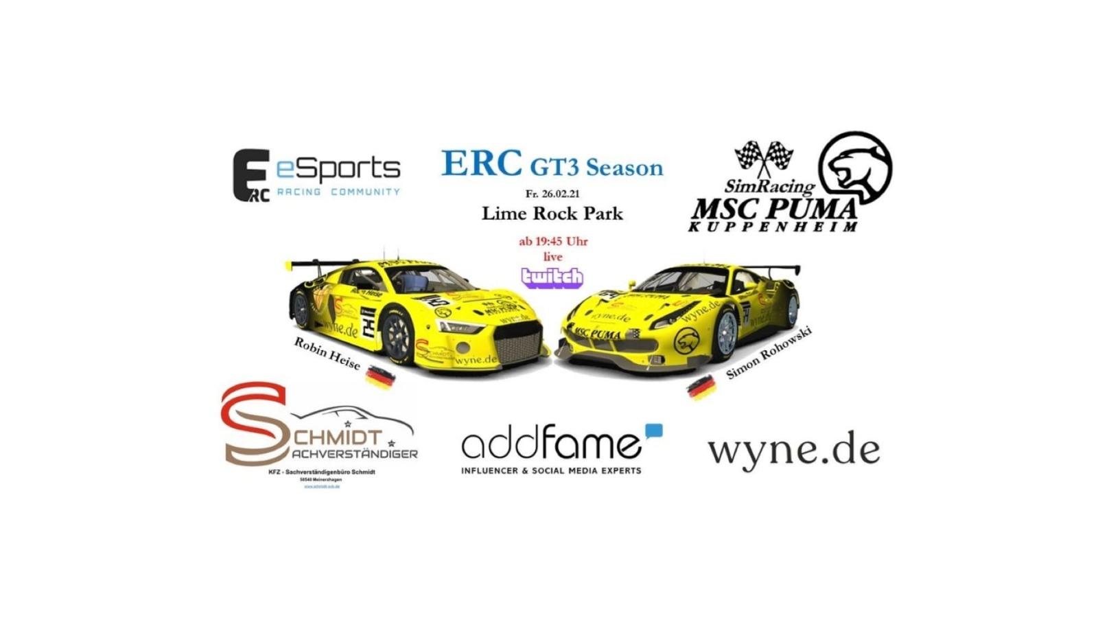 ERC GT3 Season Lime Rock Park