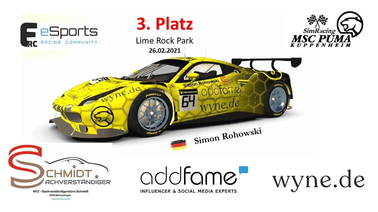 Simon Rohowski fährt erneut auf Platz 3