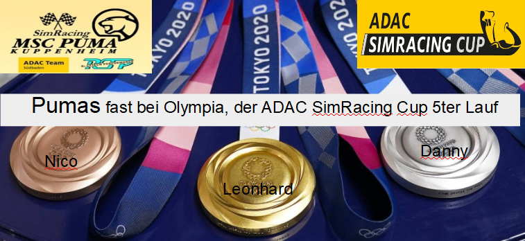 Pumas fast bei Olympia, der ADAC SimRacing Cup Runde 5