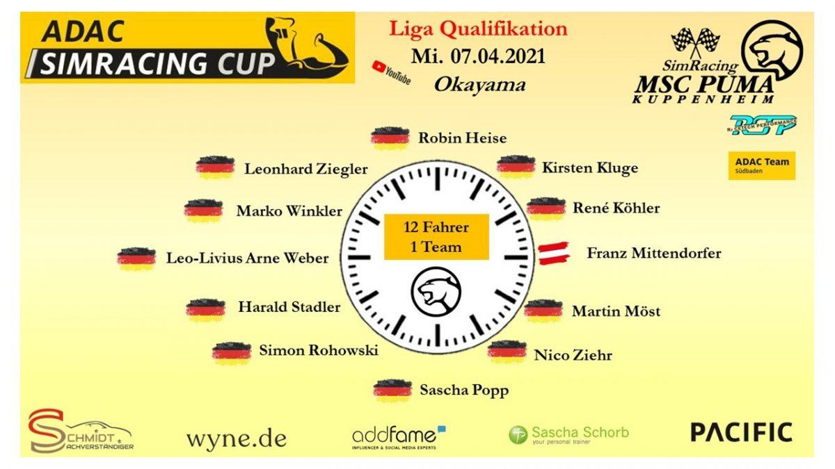 ADAC Sim Cup Quali 1