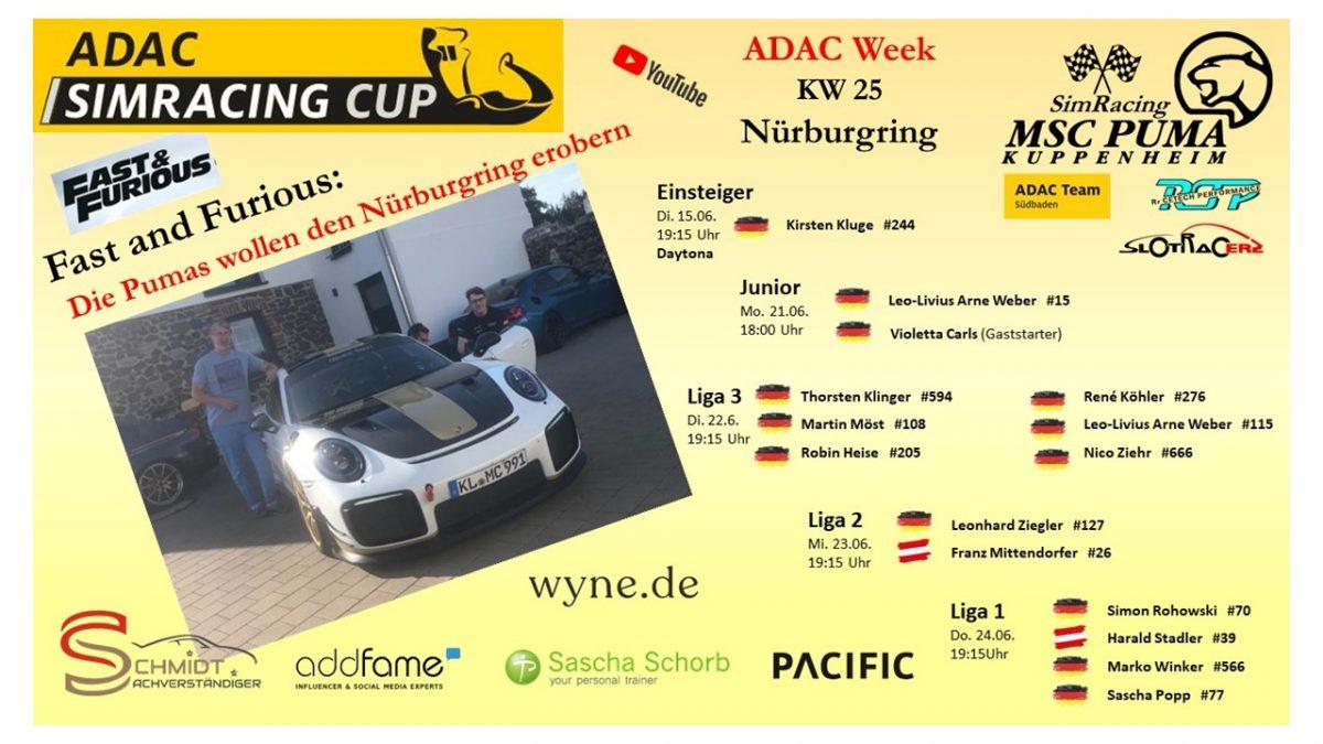 ADAC Sim Cup Titelbild Nürburgring